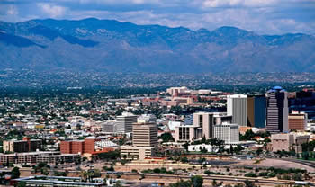 view of downtown in Tucson, AZ